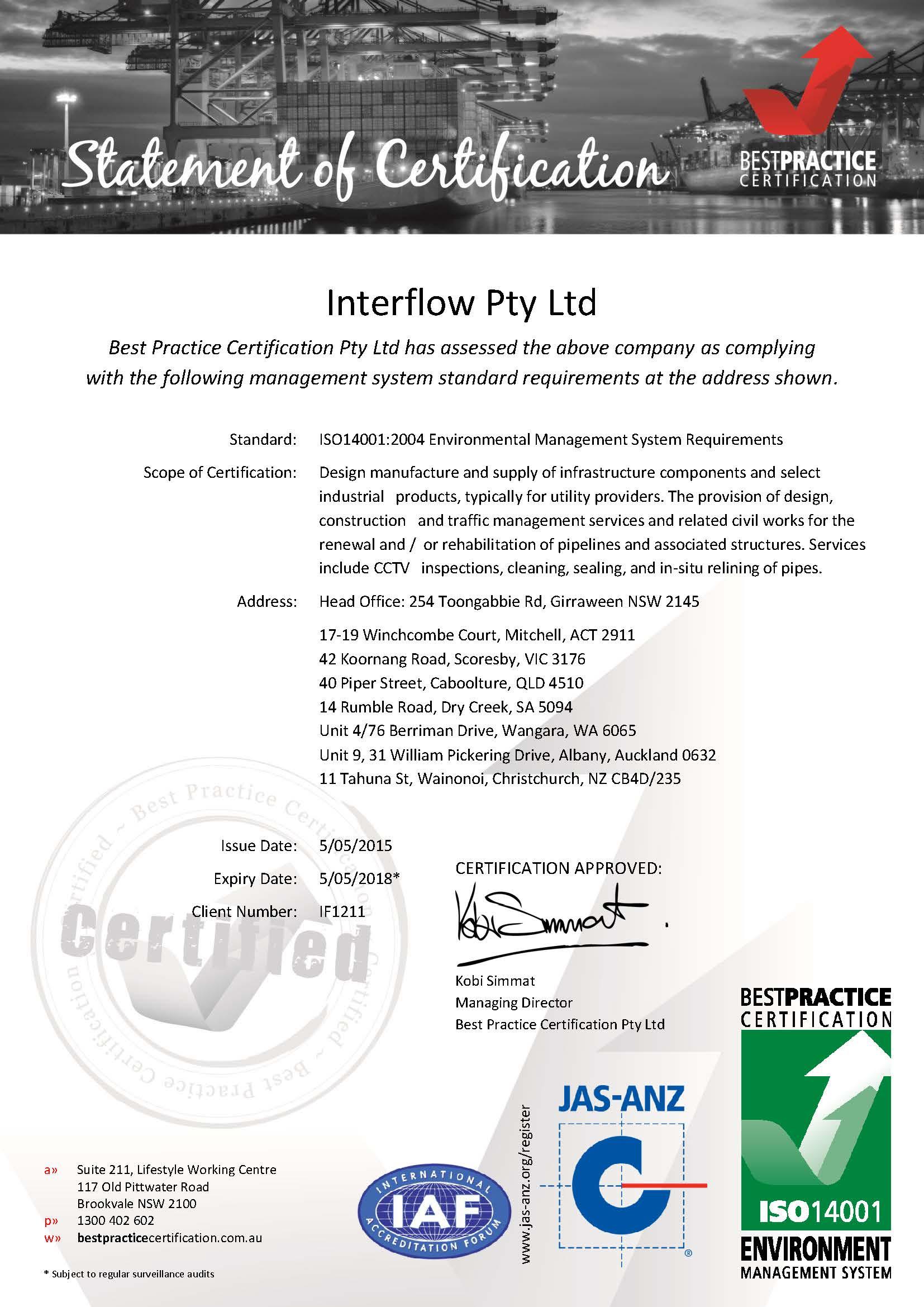 BPC-Interflow-ISO14001Cert-20150505