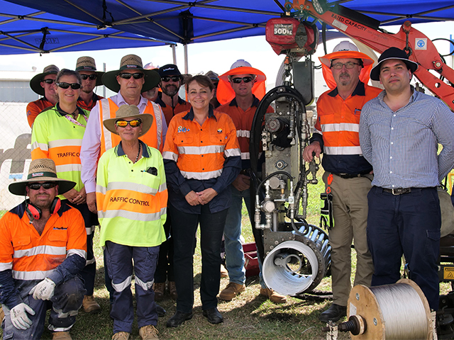 Townsville City Council members attend spiral-wound liner demonstration