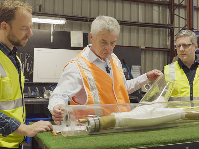 Interflow's John Monro and Derby Rubber's Michael Clayton examine the Interfit system