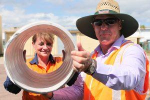 Townsville Mayor attends spiral-wound liner demonstration